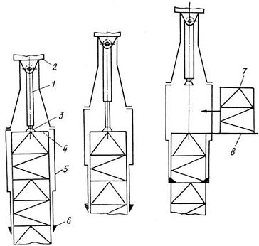 Схема монтажа башни крана: